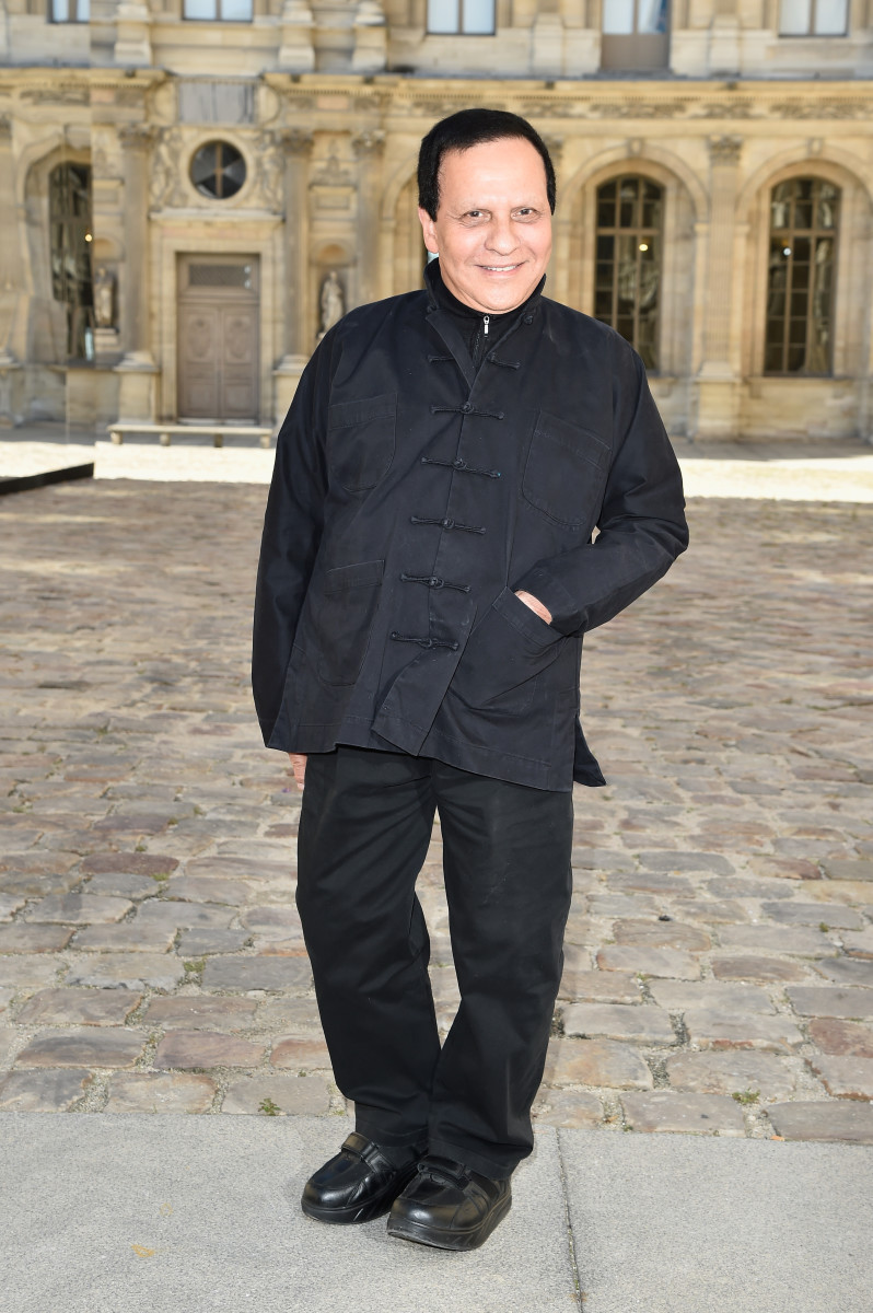 Azzedine Alaïa attends the Spring 2015 Christian Dior runway. Photo: Pascal Le Segretain/Getty Images