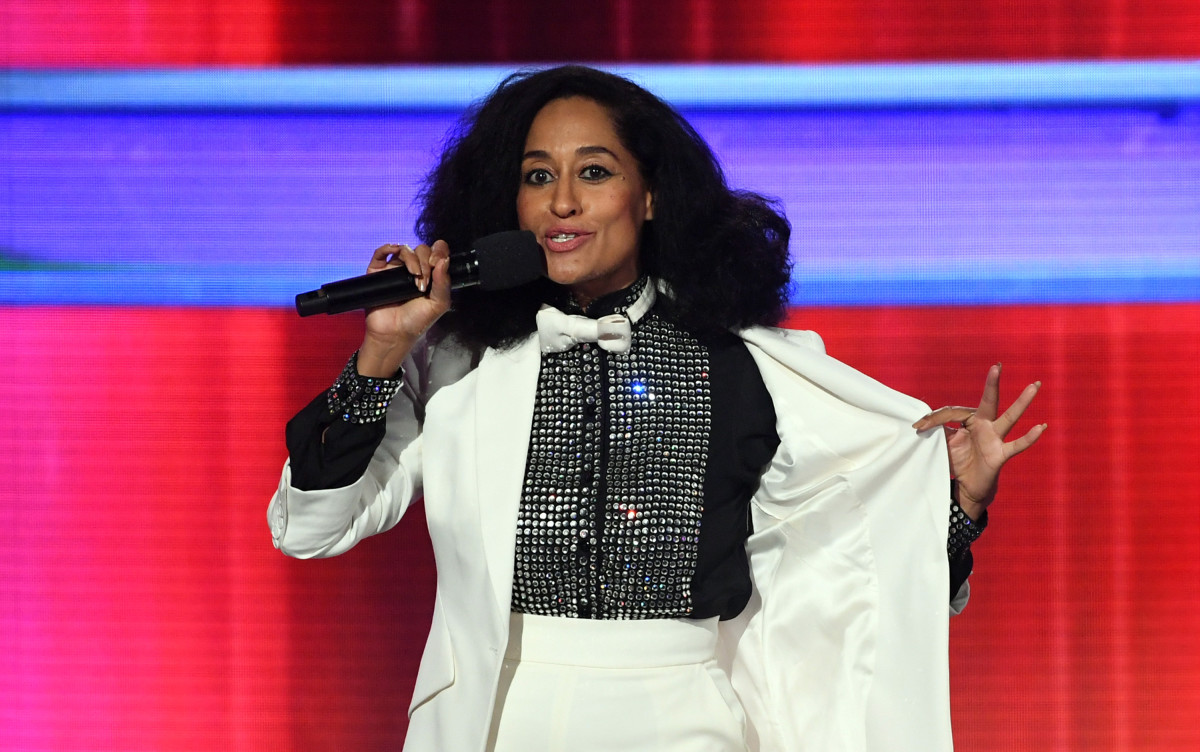 Tracee Ellis Ross in her mom's sequin blouse from the '80s. Photo: Kevin Winter/Getty Images