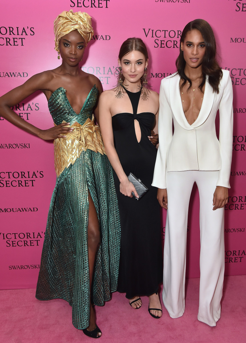 Maria Borges, Grace Elizabeth and Cindy Bruna at the Victoria's Secret Fashion Show after party. Photo: Theo Wargo/Getty Images
