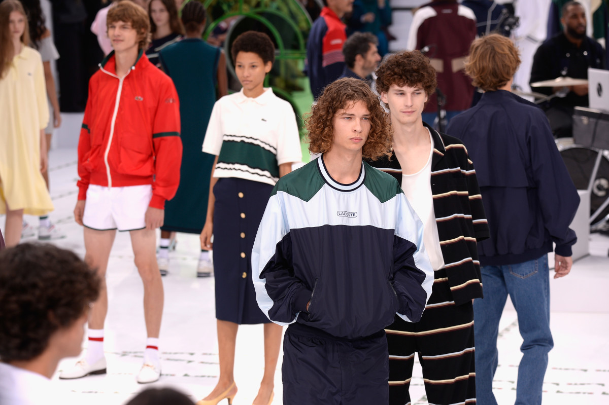 Lacoste's Paris Fashion Week show in September. Photo: Francois Durand/Getty Images