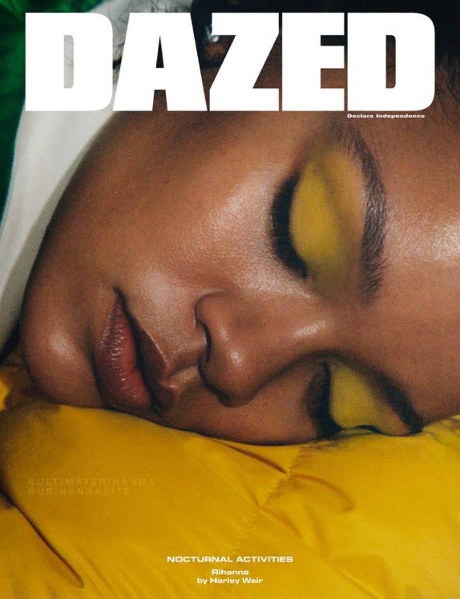 Photo: Rihanna on the December cover of 'Dazed.' Photo: Harley Weir