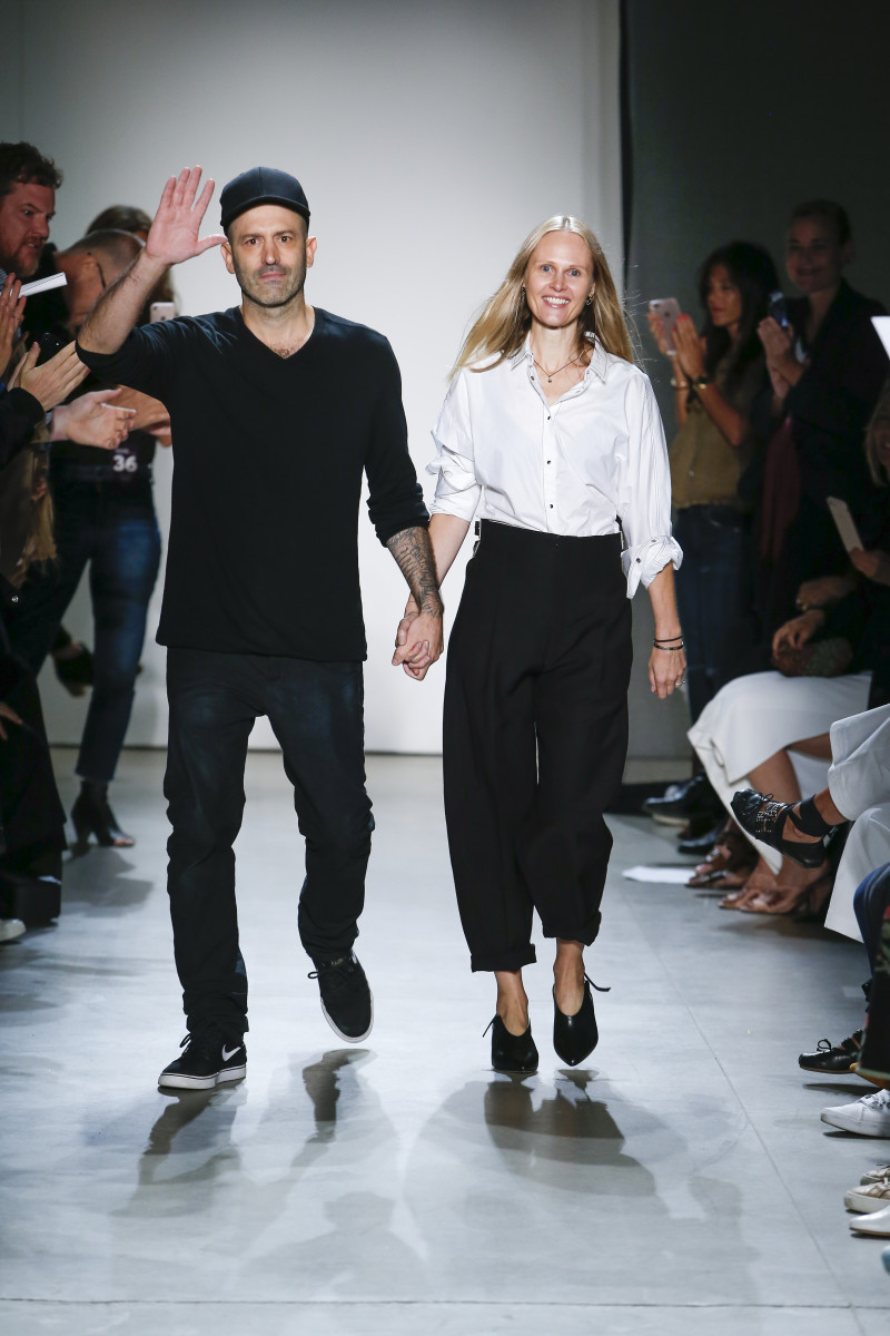 Michael and Nicole Colovos at their NYFW debut. Photo: Courtesy
