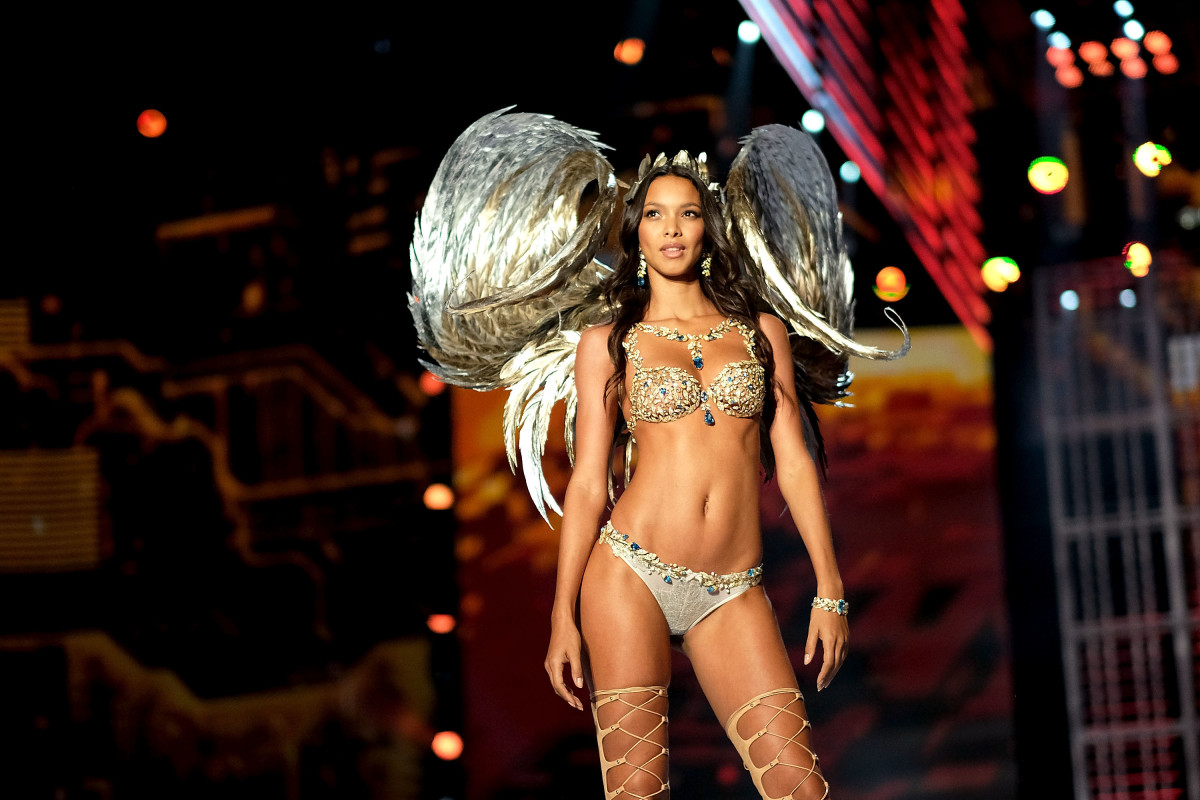 4291cf9fc3 Lais Ribeiro wears the Fantasy Bra during the 2017 Victoria s Secret  Fashion Show in Shanghai.
