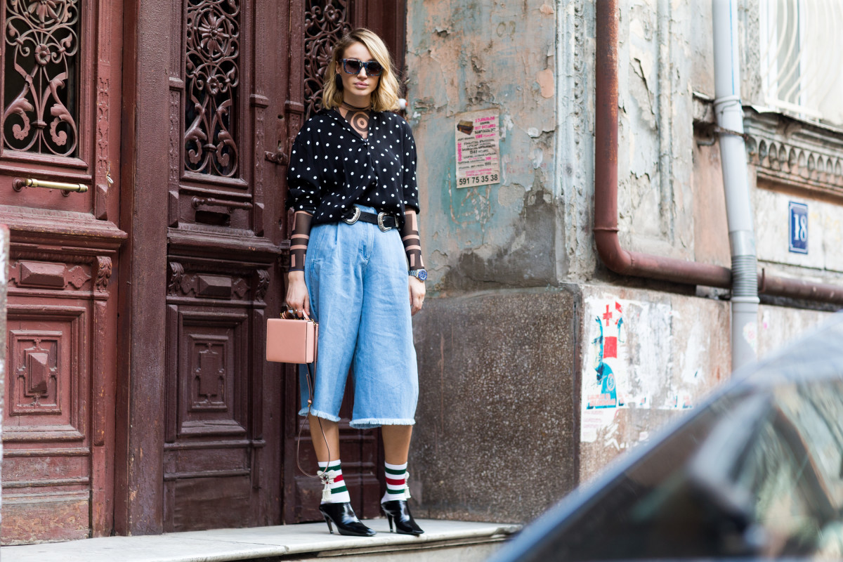 Street style from Tbilisi Fashion Week. Photo: Melodie Jeng/Getty Images