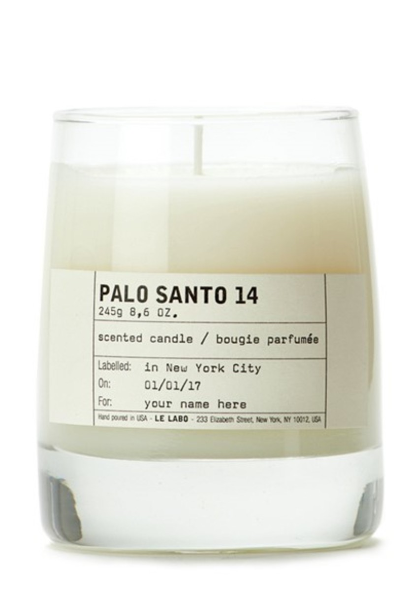 Le Labo Palo Santo 14 scented candle, $75, available here.