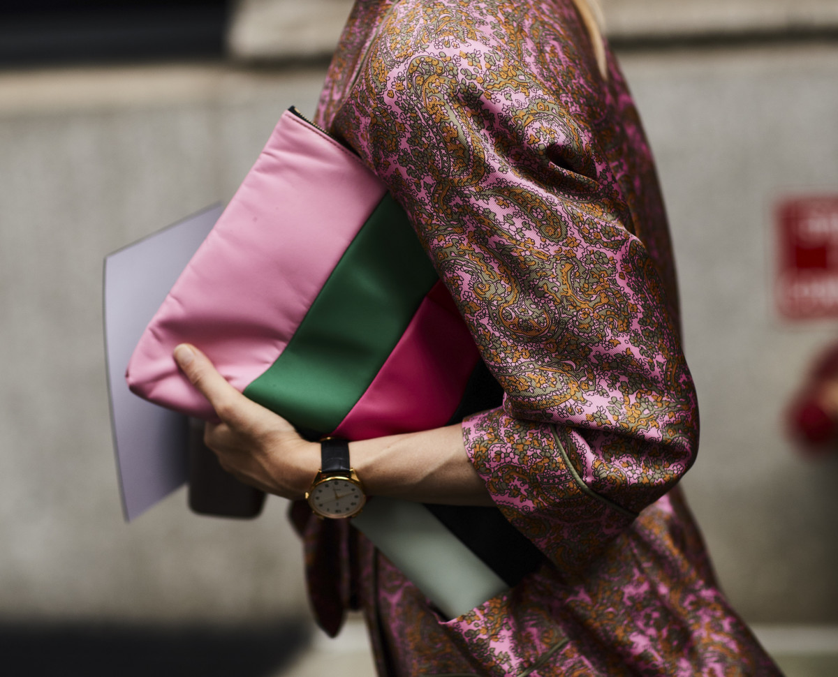 A Chanel clutch during New York Fashion Week. Photo: Imaxtree