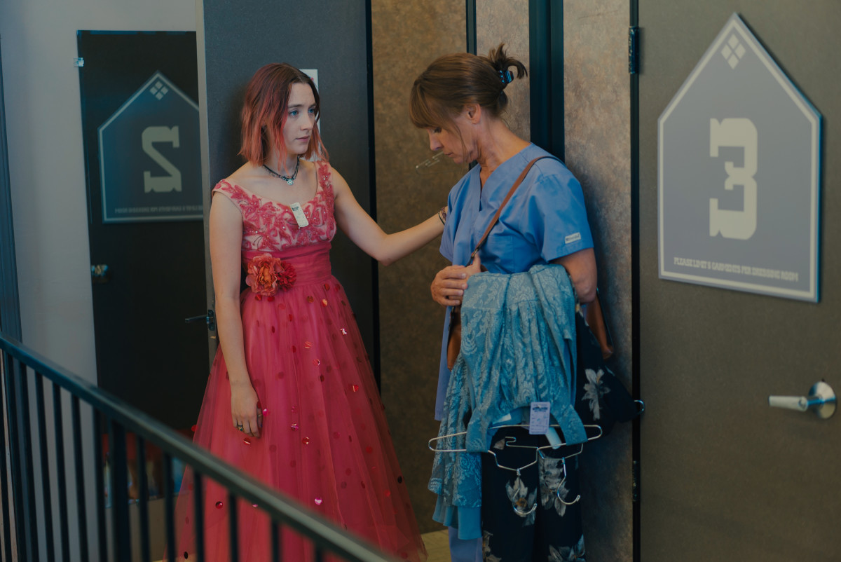 Lady Bird and Marion go prom shopping. Photo: Merie Wallace, courtesy of A24