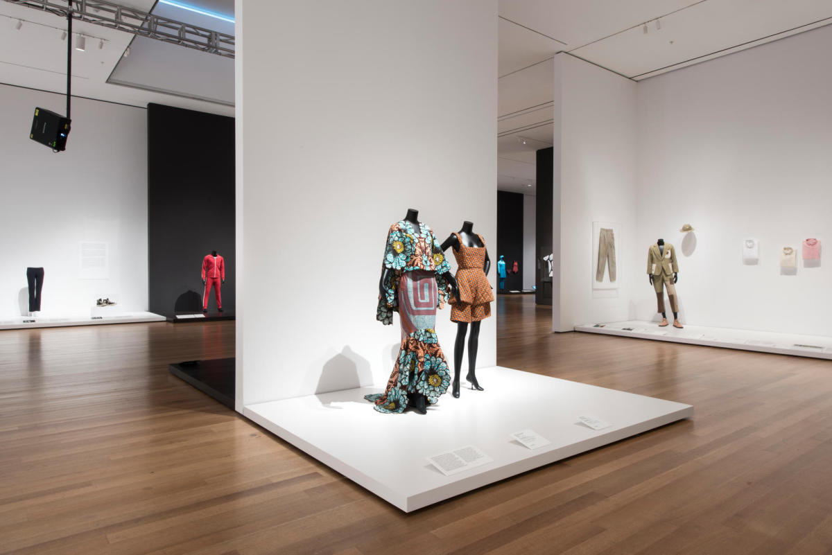 Installation view of 'Items: Is Fashion Modern?' The Museum of Modern Ar. Photo: Martin Seck