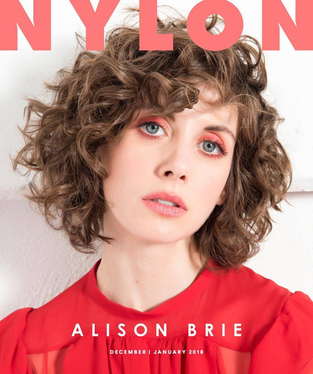 Alison Brie on 'Nylon''s digital December/January cover. Photo: Lindsey Byrnes
