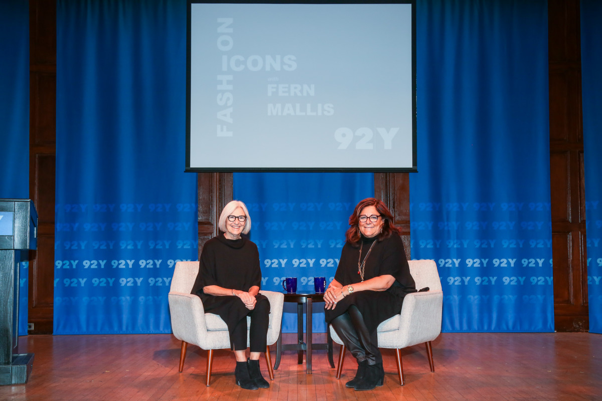 Eileen Fisher and Fern Mallis at the 92nd St.Y: Fashion Icons talk on Dec. 5. Photo: Laura Massa/Michael Priest Photography