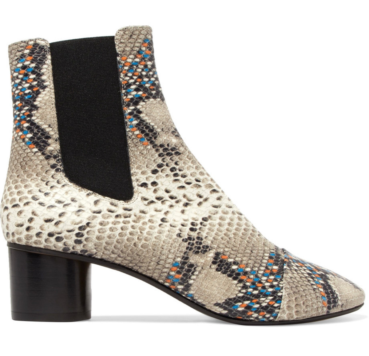 Isabel Marant Danelya python-effect boots, $655, available at Net-A-Porter.