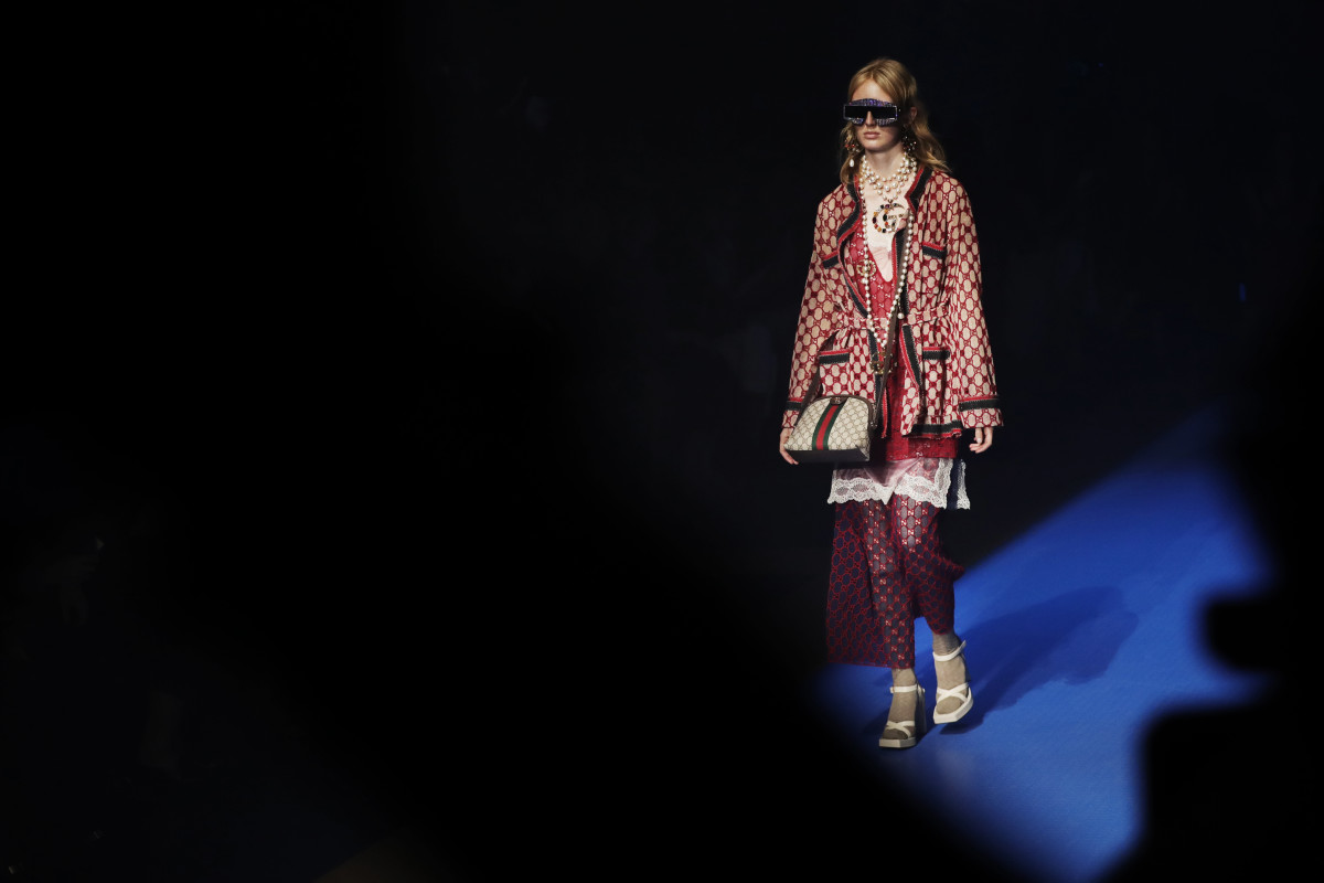 A look from Gucci's Spring 2018 collection. Photo: Vittorio Zunino Celotto/Getty Images