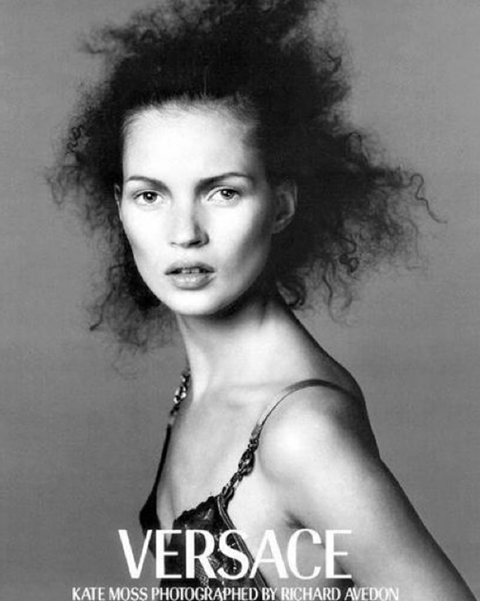 Palau's early work with Kate Moss for Versace. Photo: Richard Avedon/Versace (@guidopalau/Instagram)