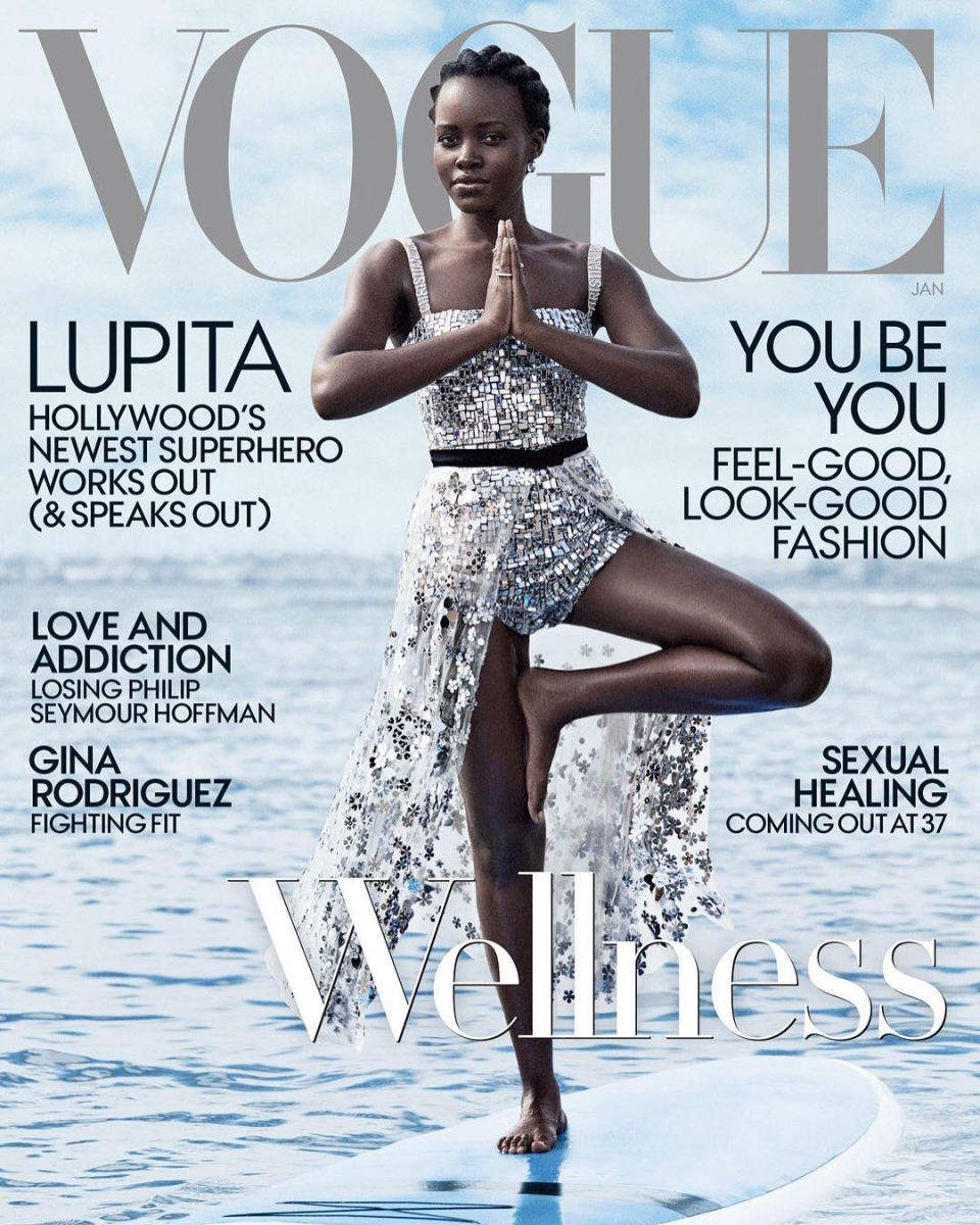 """Lupita Nyong'o in Dior for """"Vogue,"""" January 2018. Photo: Mikael Jansson/""""Vogue"""""""