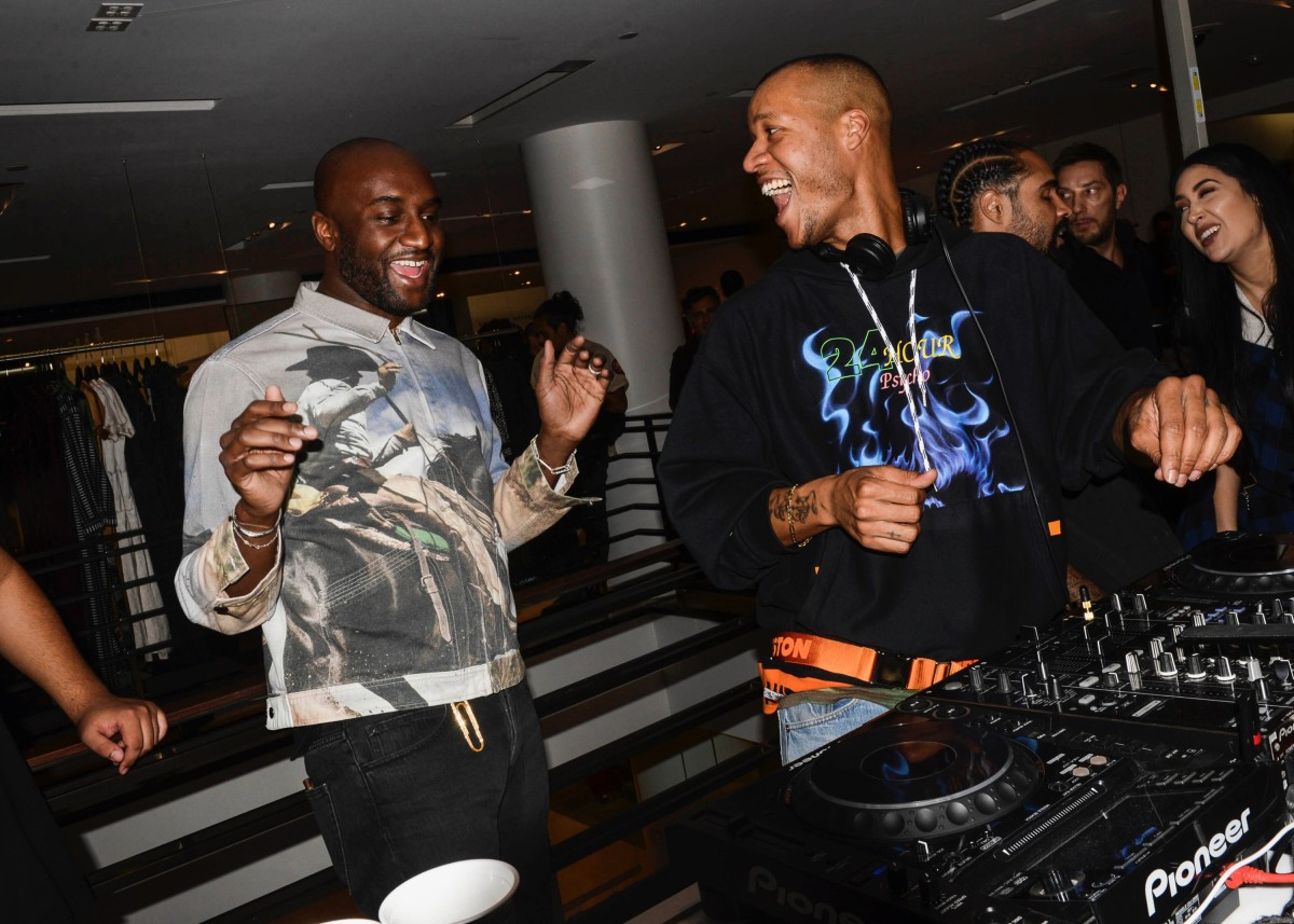 Virgil Abloh and Heron Preston at 'The Drop @ Barneys.' Photo: BFA for Barneys New York