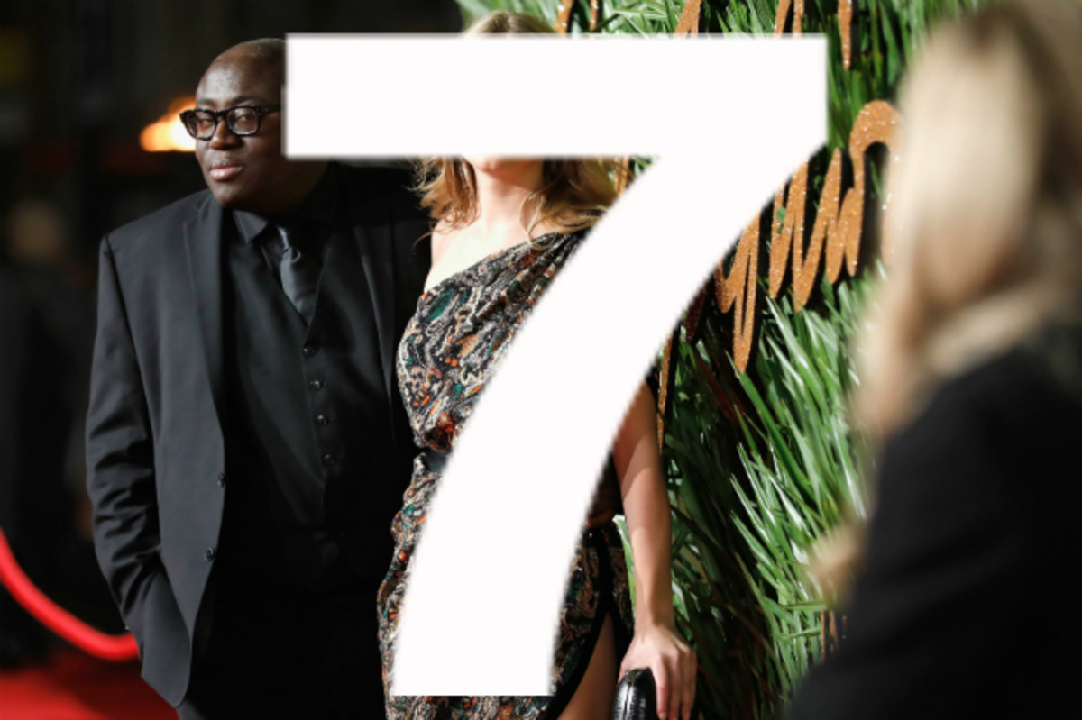 Edward Enninful with Anna Ewers at the 2017 Fashion Awards. Photo: Tristan Fewings/BFC/Getty Images