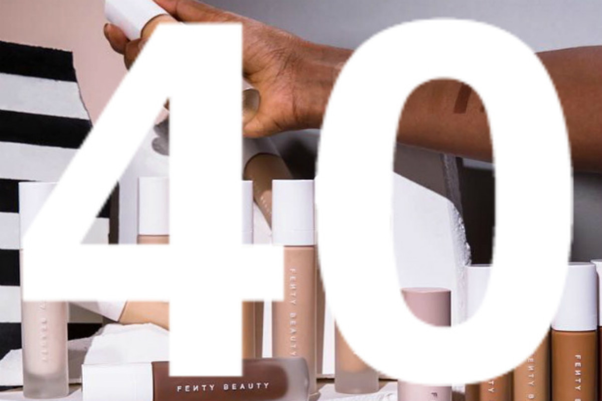 Shades from Fenty Beauty's Pro Filt'r foundation range. Photo: @fentybeauty/Instagram