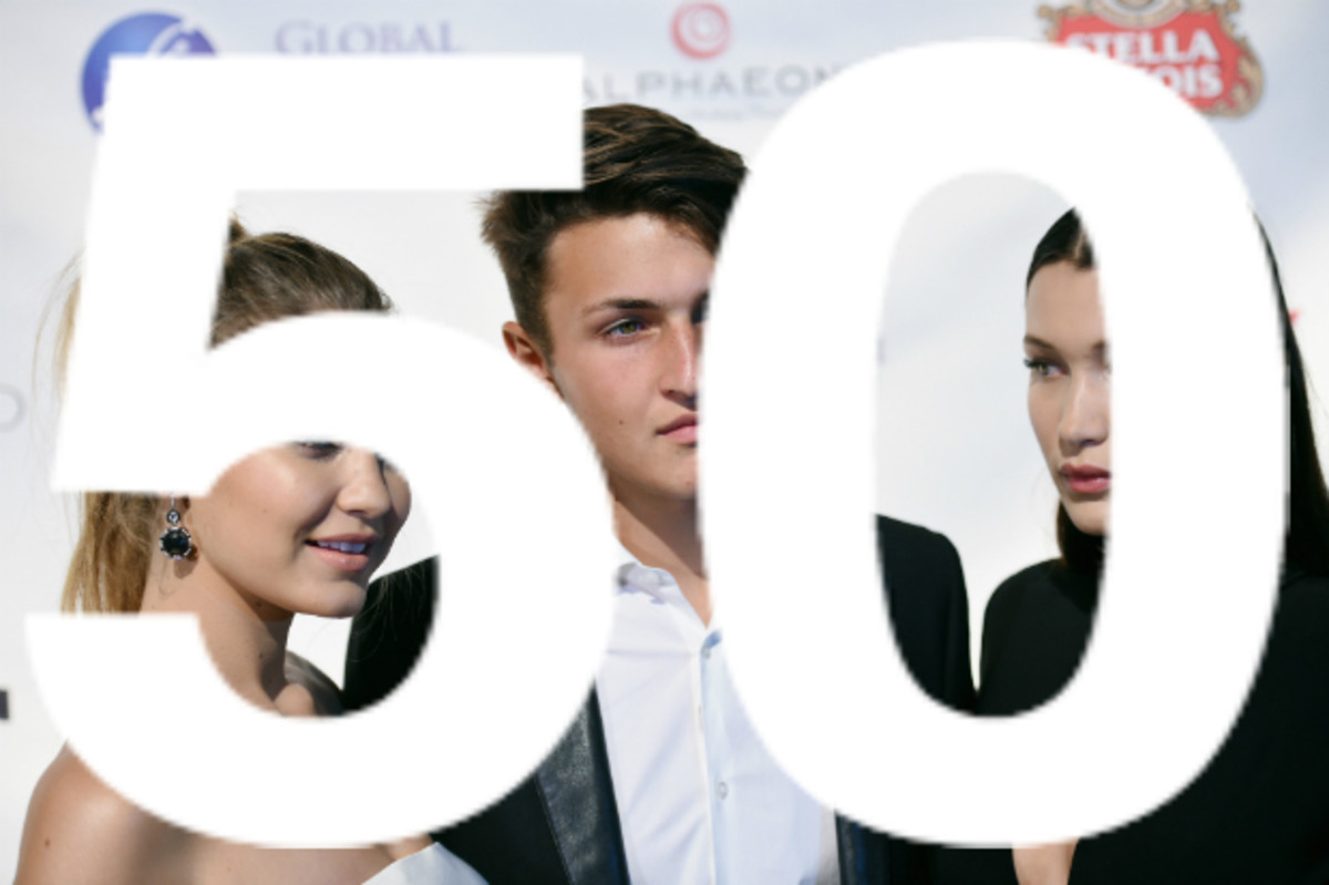 """Gigi, Anwar and Bella Hadid at the Global Lyme Alliance """"Uniting for a Lyme-Free World"""" 2015 Inaugural Gala. Photo: Dimitrios Kambouris/Getty Images"""