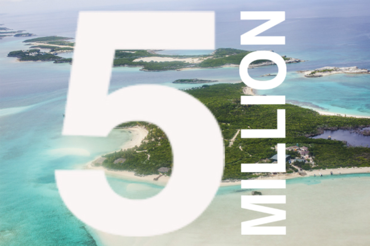 An aerial view of Exuma in the Bahamas. Photo: EyesWideOpen/Getty Images