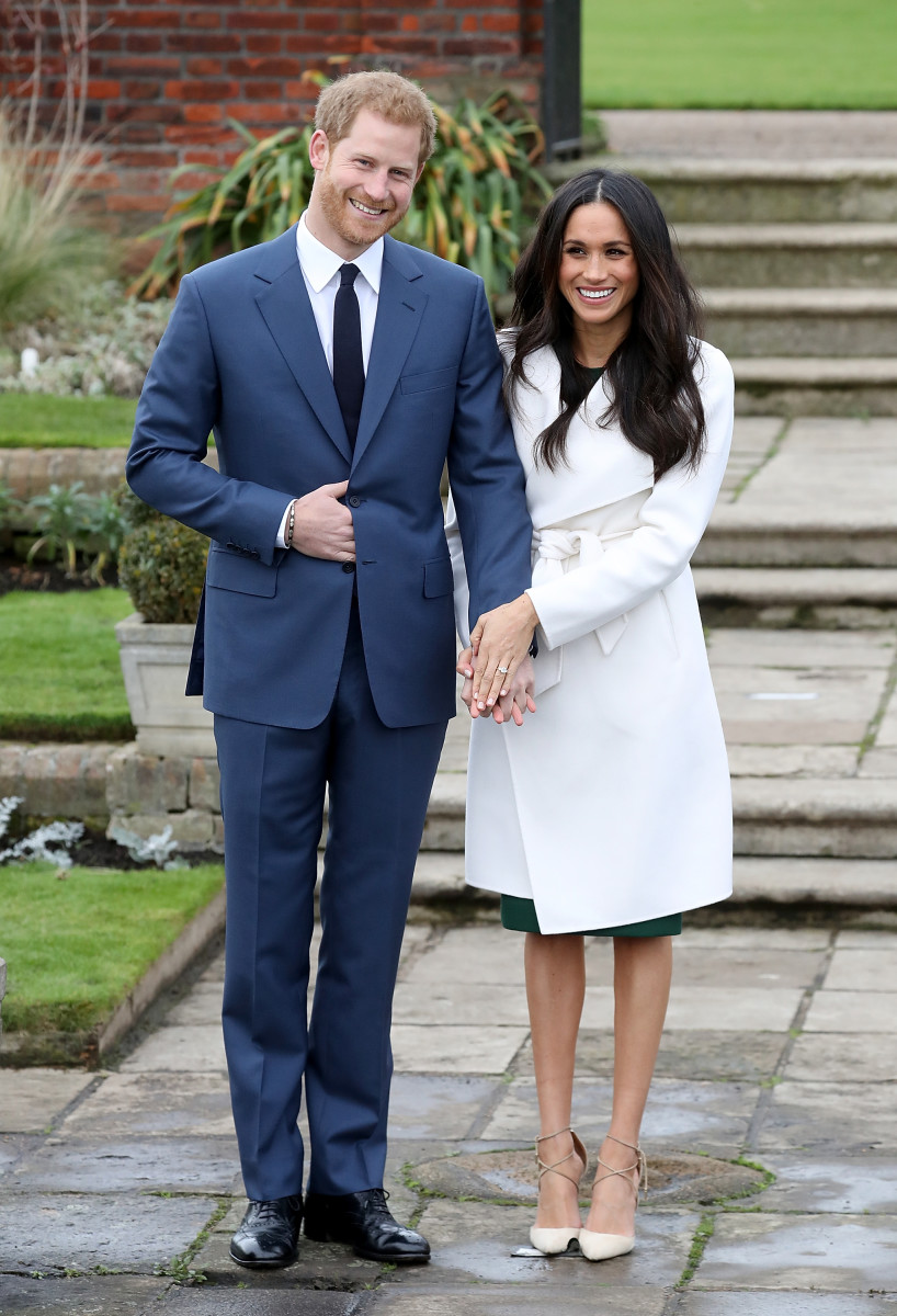 Prince Harry and Meghan Markle during an official photocall to announce their engagement. Photo: Chris Jackson/Getty Images