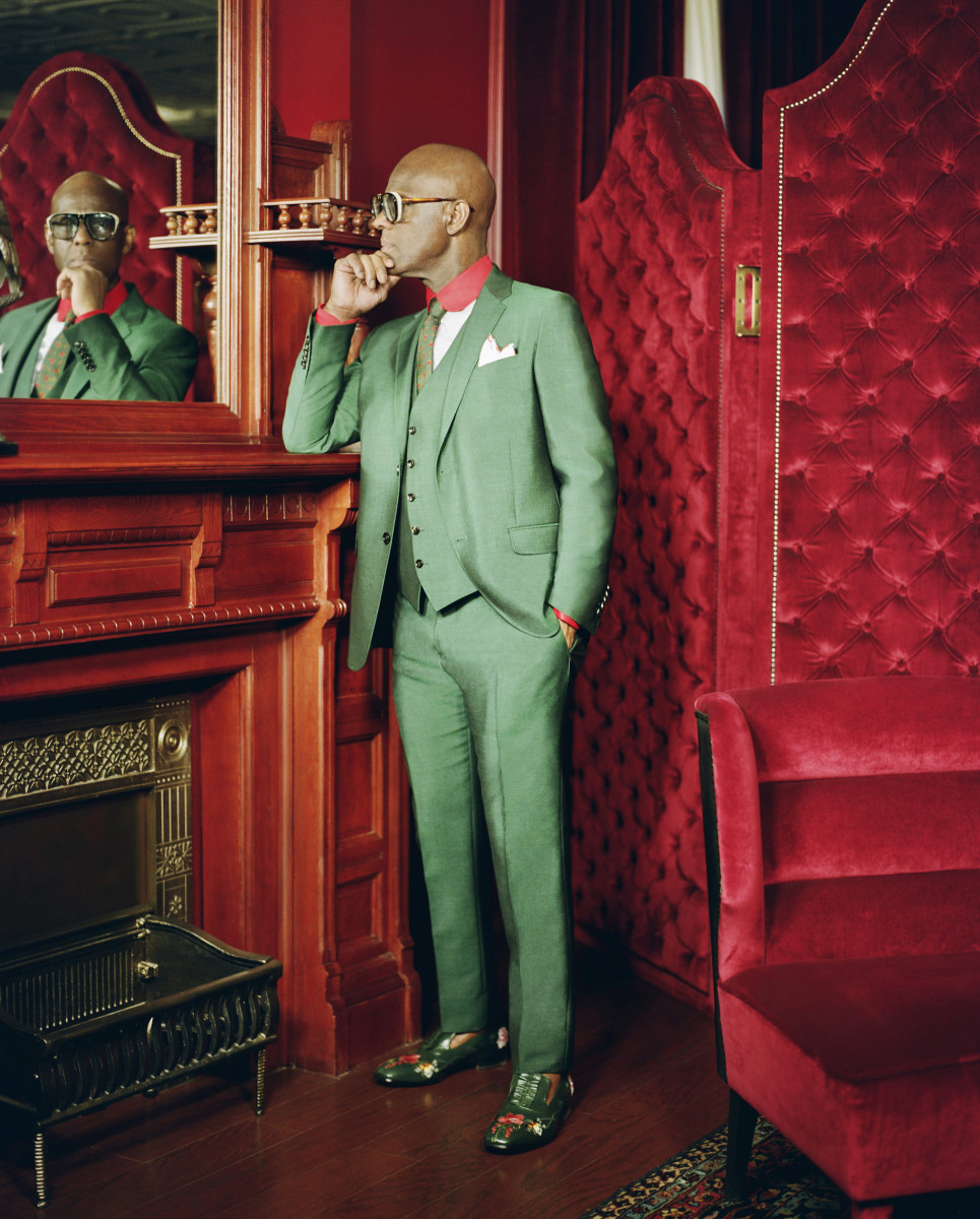 Dapper Dan in his new Harlem atelier. Photo: Renell Medrano/Gucci