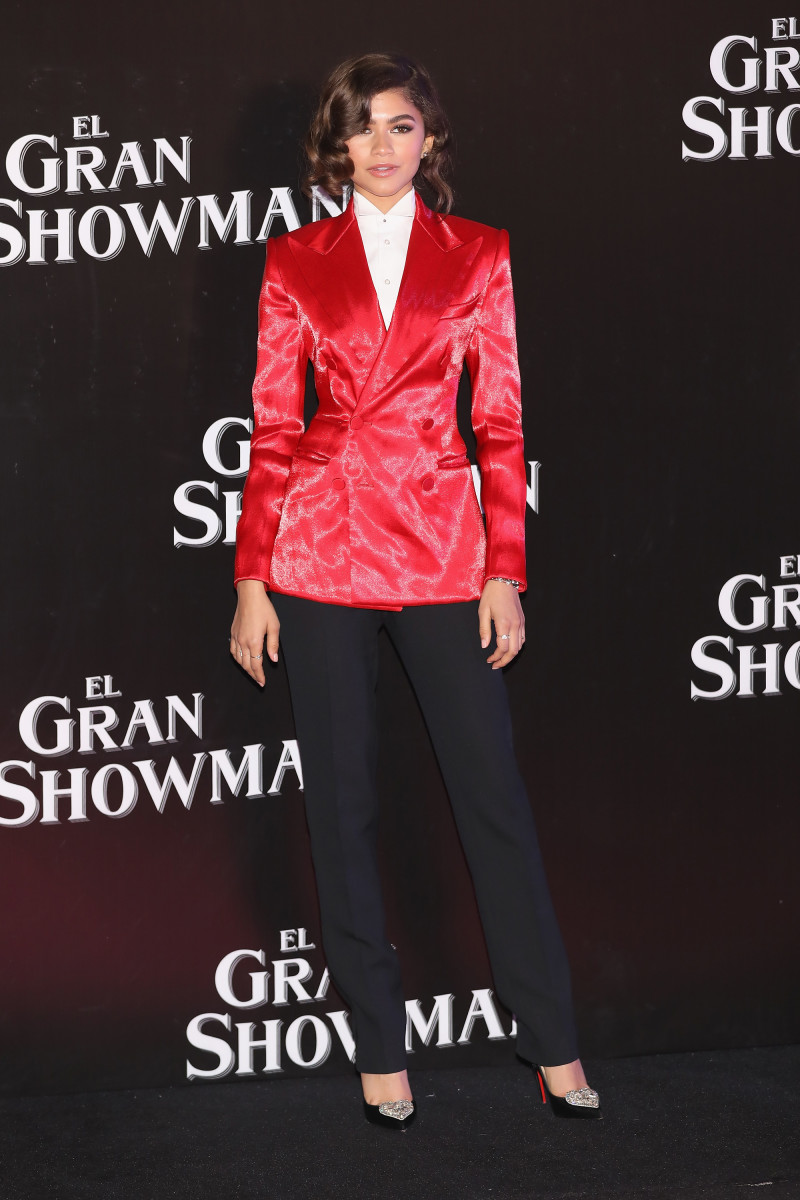 "Zendaya in Ralph Lauren Collection at ""The Greatest Showman"" premiere on Wednesday in Mexico City. Photo: Victor Chavez/Getty Images"