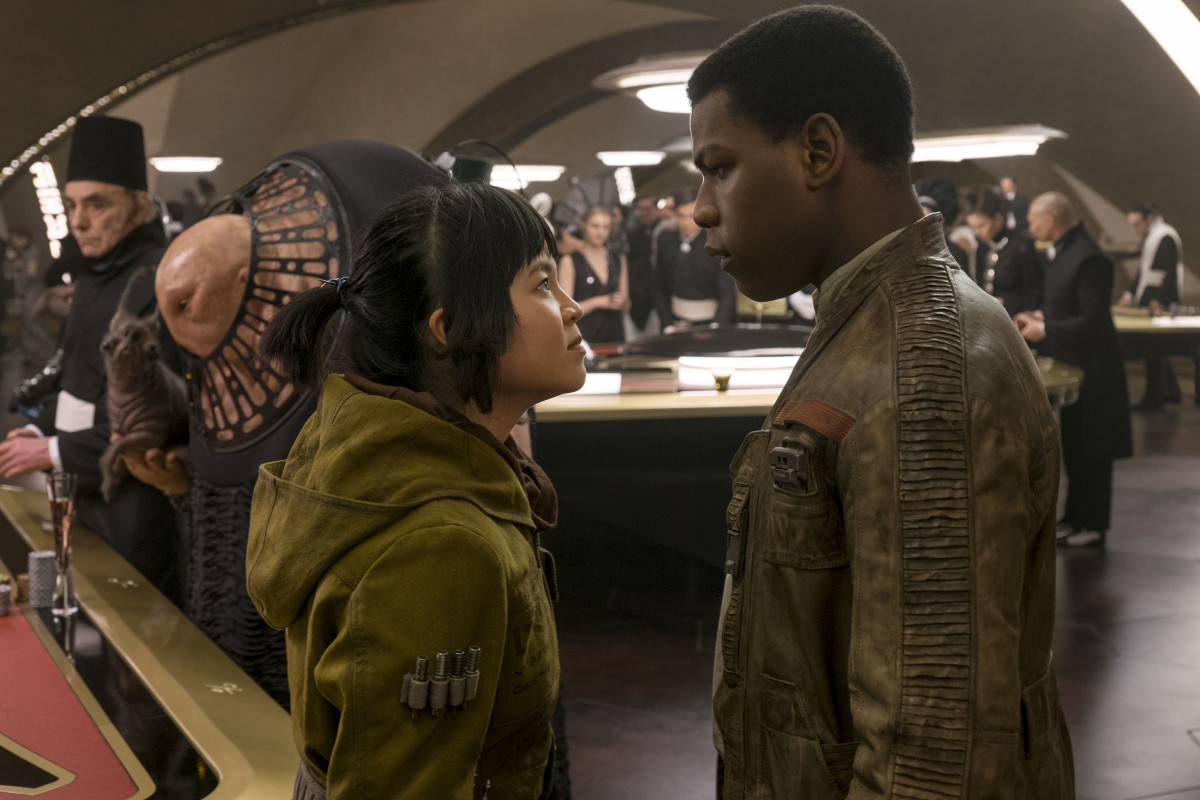 Rose (Kelly Marie Tran) and Finn (John Boyega). Photo: Photo: David James/2017 Lucasfilm Ltd. & ™, All Rights Reserved.