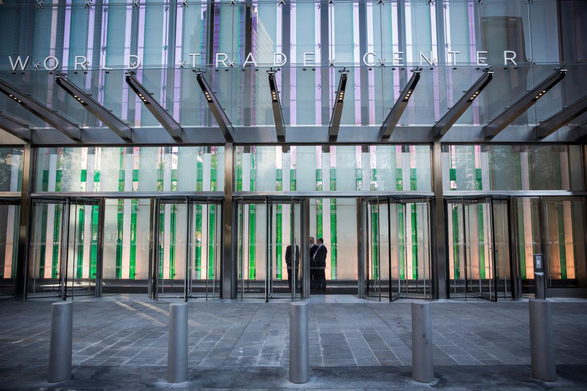 Exterior of Condé Nast' headquarters. Photo: Andrew Burton/Getty Images