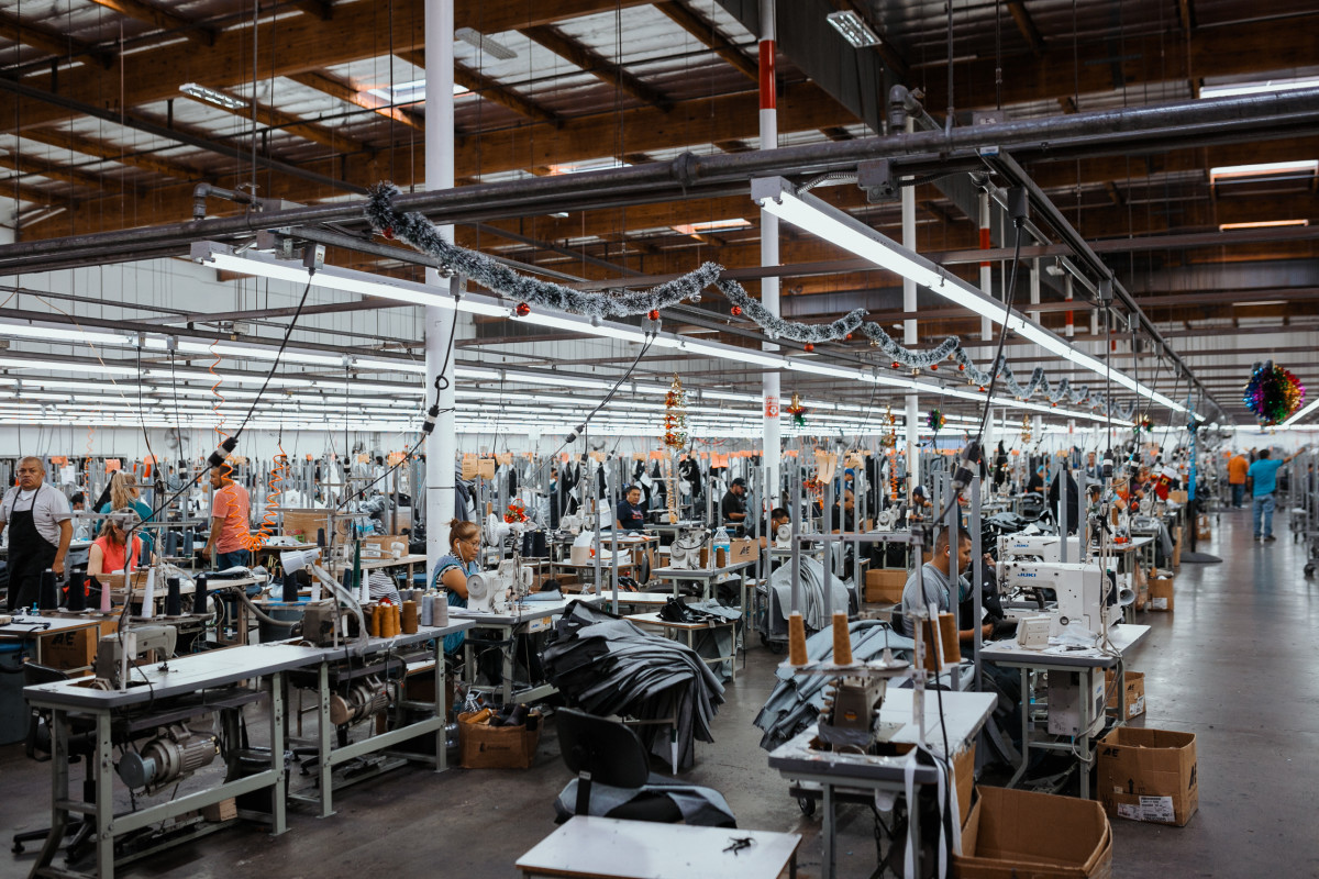 The sewing facility. Photo: Jacob Boll/Fashionista
