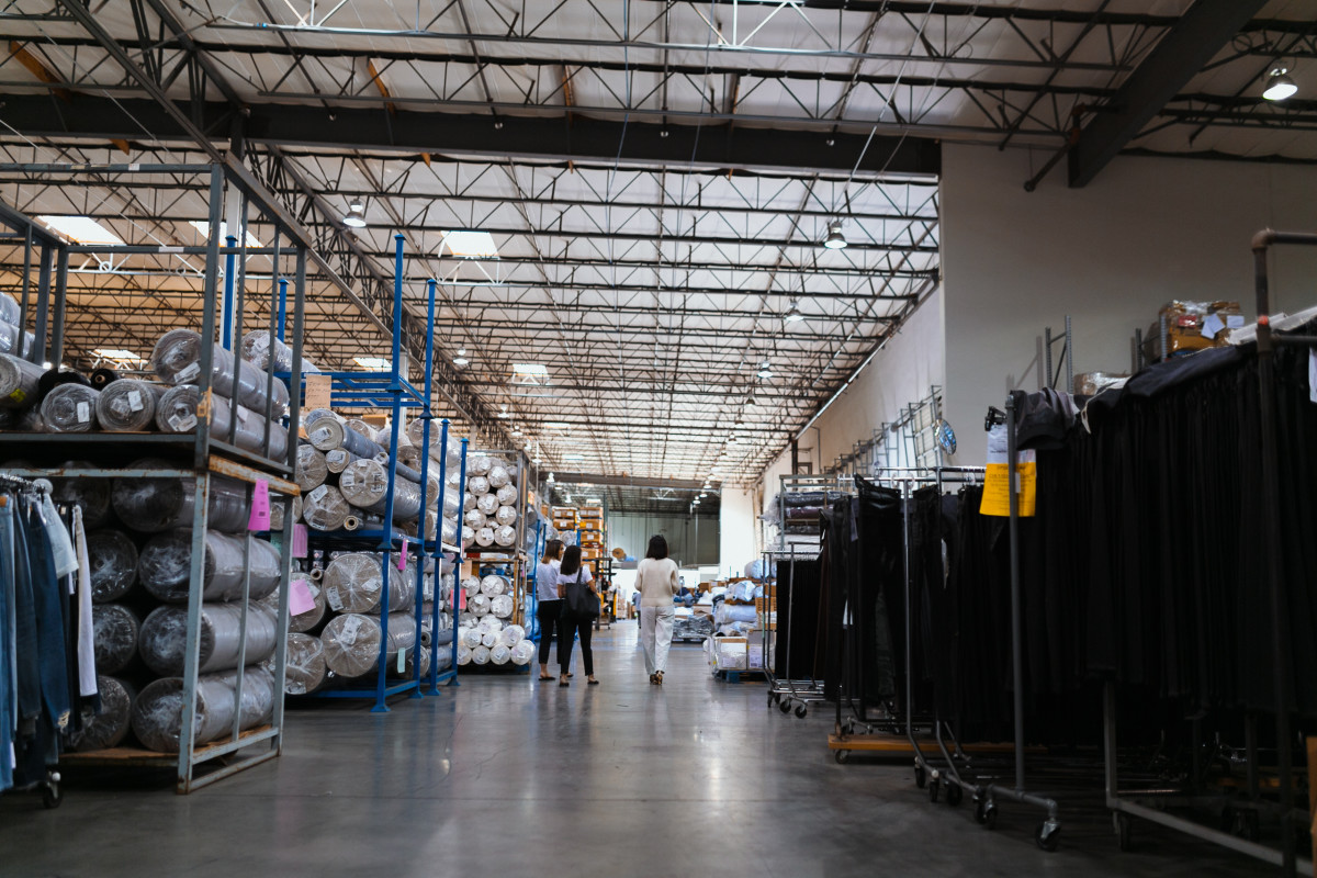 Inside the Citizens of Humanity warehouse/distribution center. Photo: Jacob Boll/Fashionista