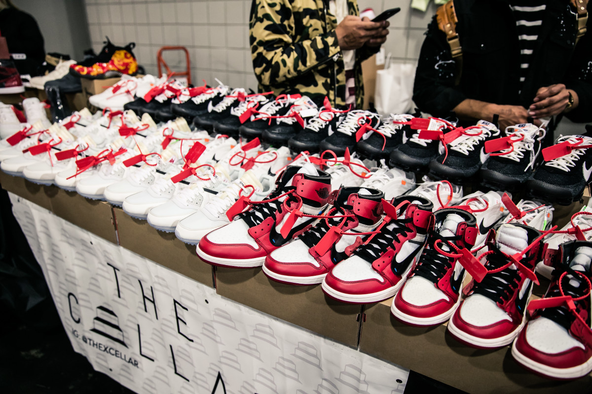 Nike x Virgil Abloh sneakers at Sneaker Con 2017. Photo: Sneaker Con