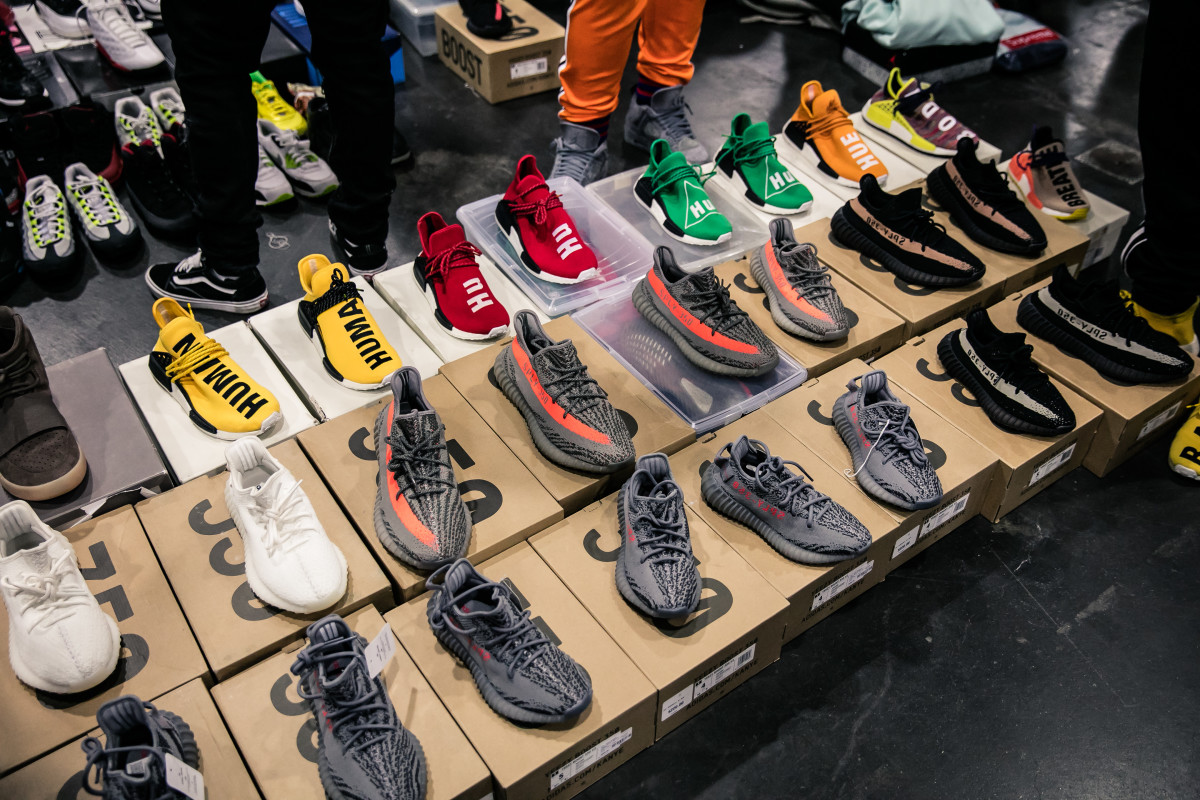 Adidas sneakers at Sneaker Con 2017. Photo: Sneaker Con.