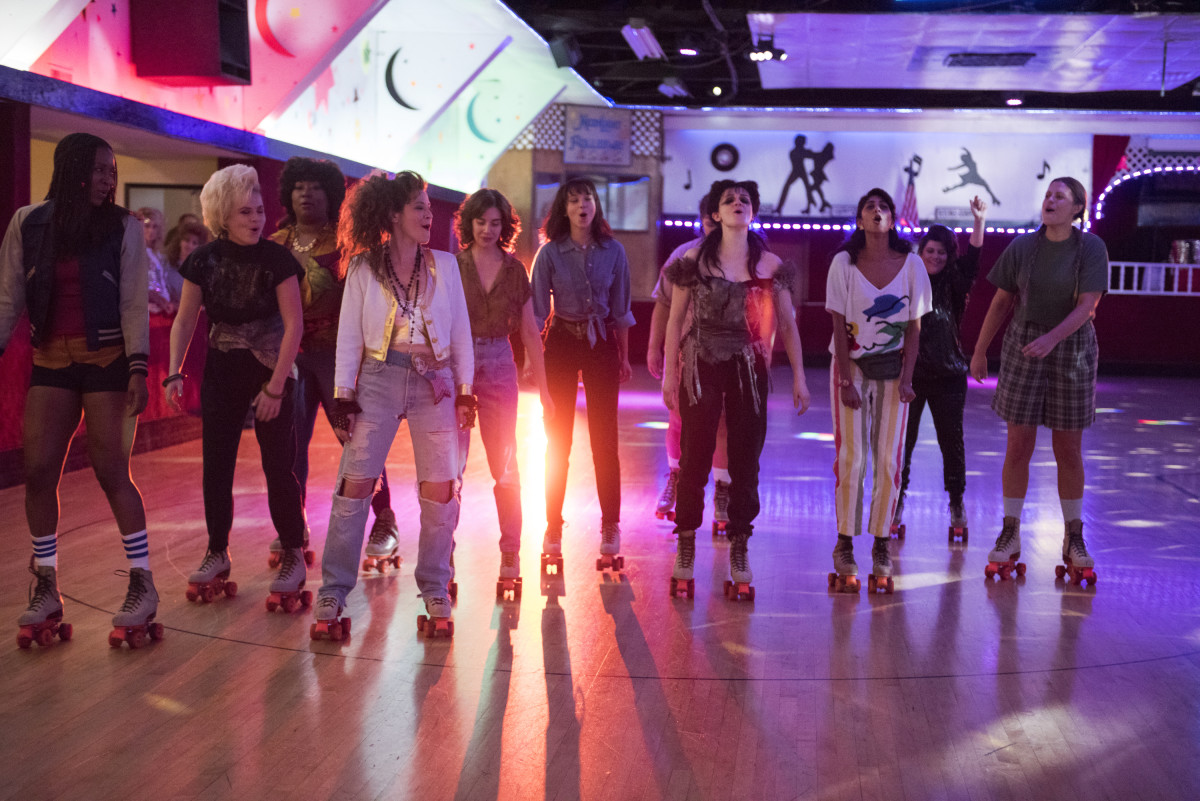 The ladies of 'GLOW' in their '80s best. Photo: Erica Parise/NetflixPICTUREDSy