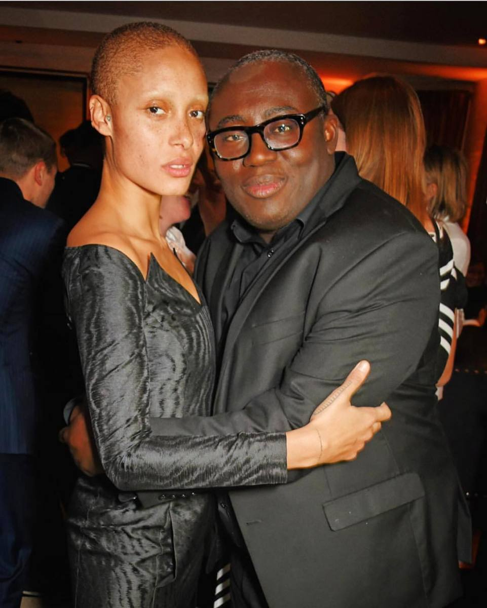 "Adwoa Aboah with ""British Vogue"" editor-in-chief Edward Enninful. Photo: @adwoaaboah/Instagram"