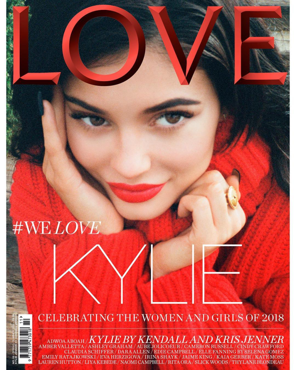 Kylie Jenner on the cover of 'Love.' Photo: Kendall Jenner