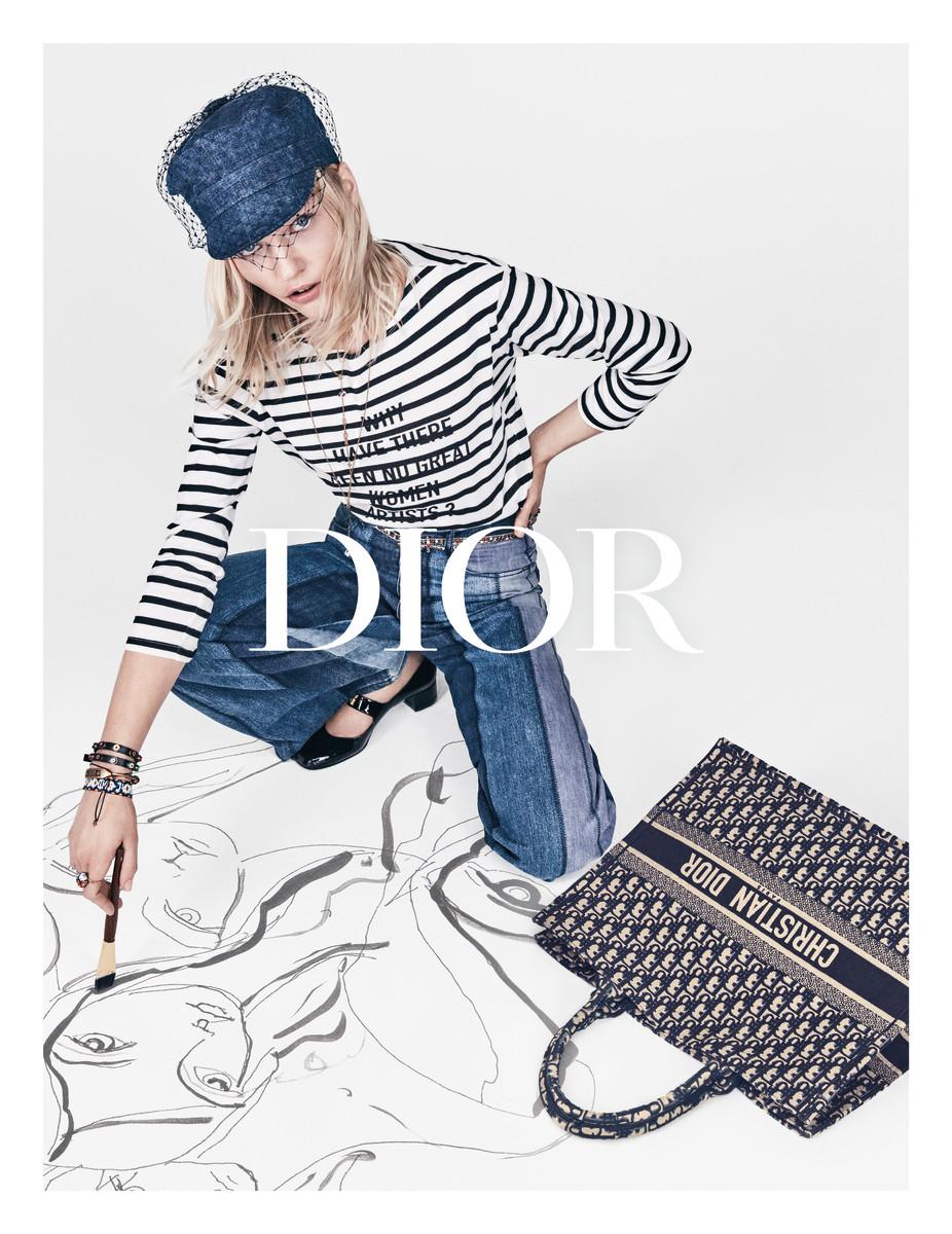 Sasha Pivovarova for Dior Spring 2018 ad campaign. Photo: Patrick Demarchelier