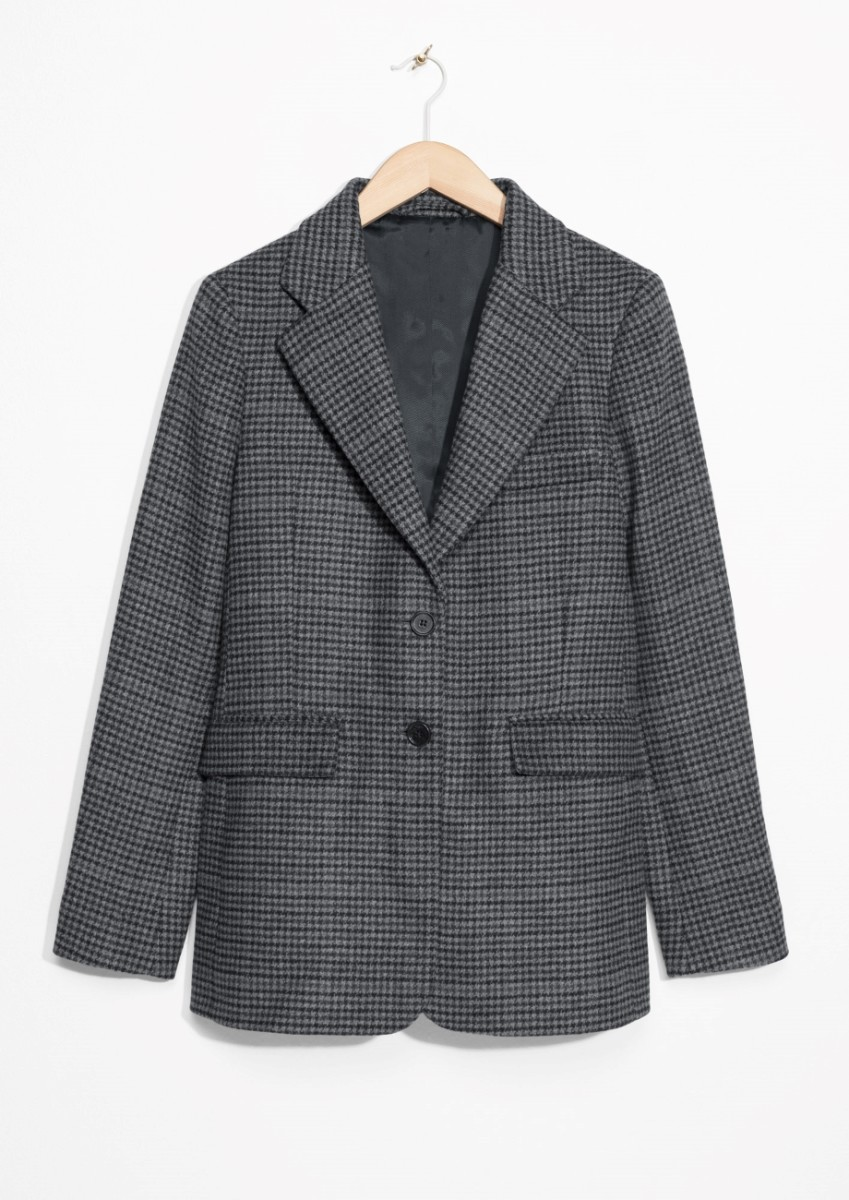 & Other Stories Wool blend checked blazer, $195, available at & Other Stories.