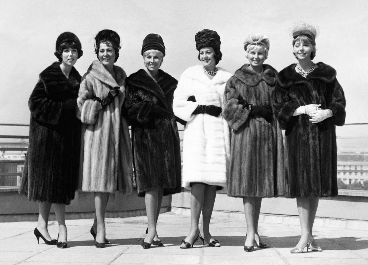 Fur fashion show, 1960s. Photo: STRINGER/Stringer