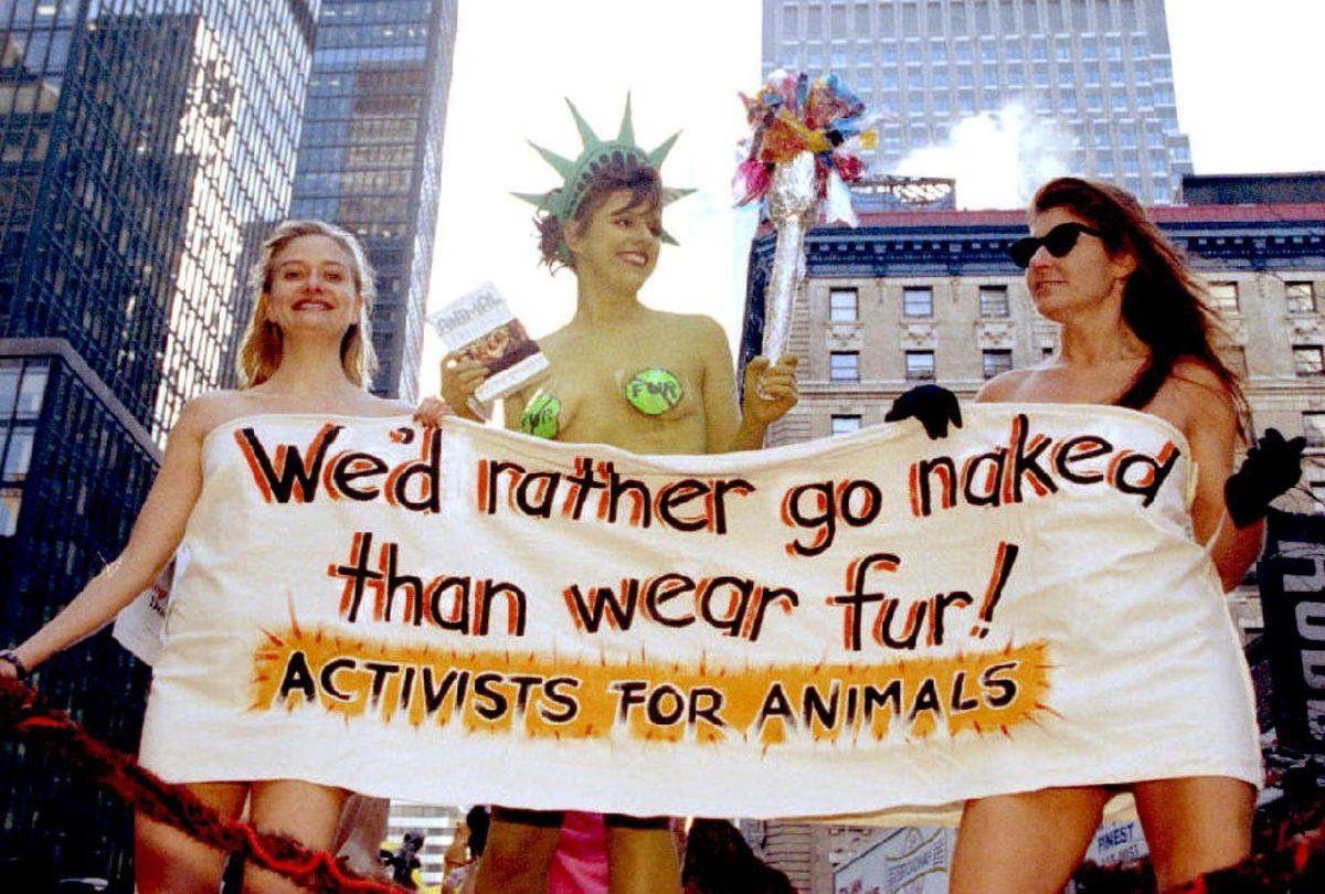 PETA protestors, 1993. Photo: Bob Strong/Getty Images