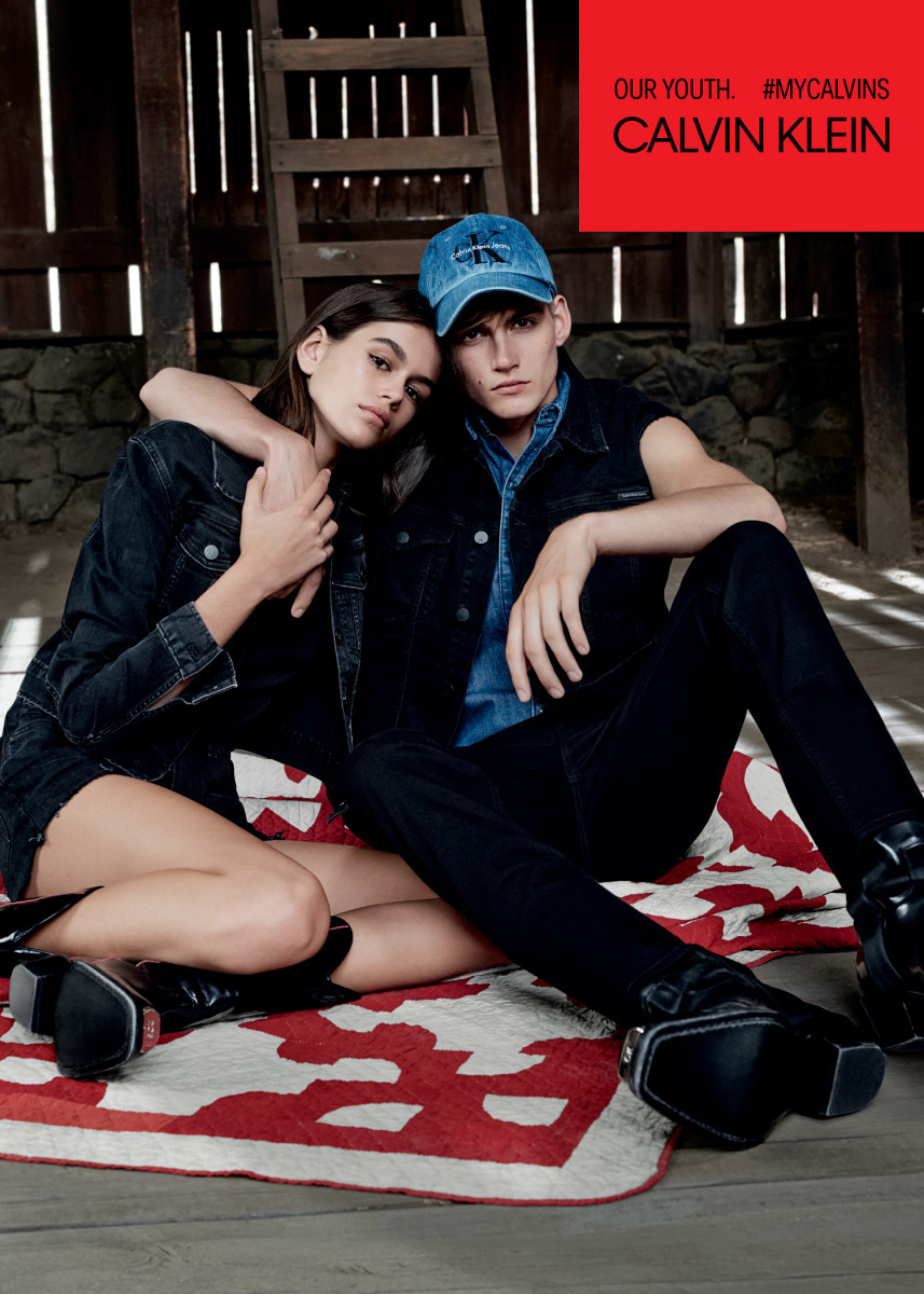 Kaia and Presley Gerber for Calvin Klein Jeans. Photo: Willy Vanderperre/Calvin Klein