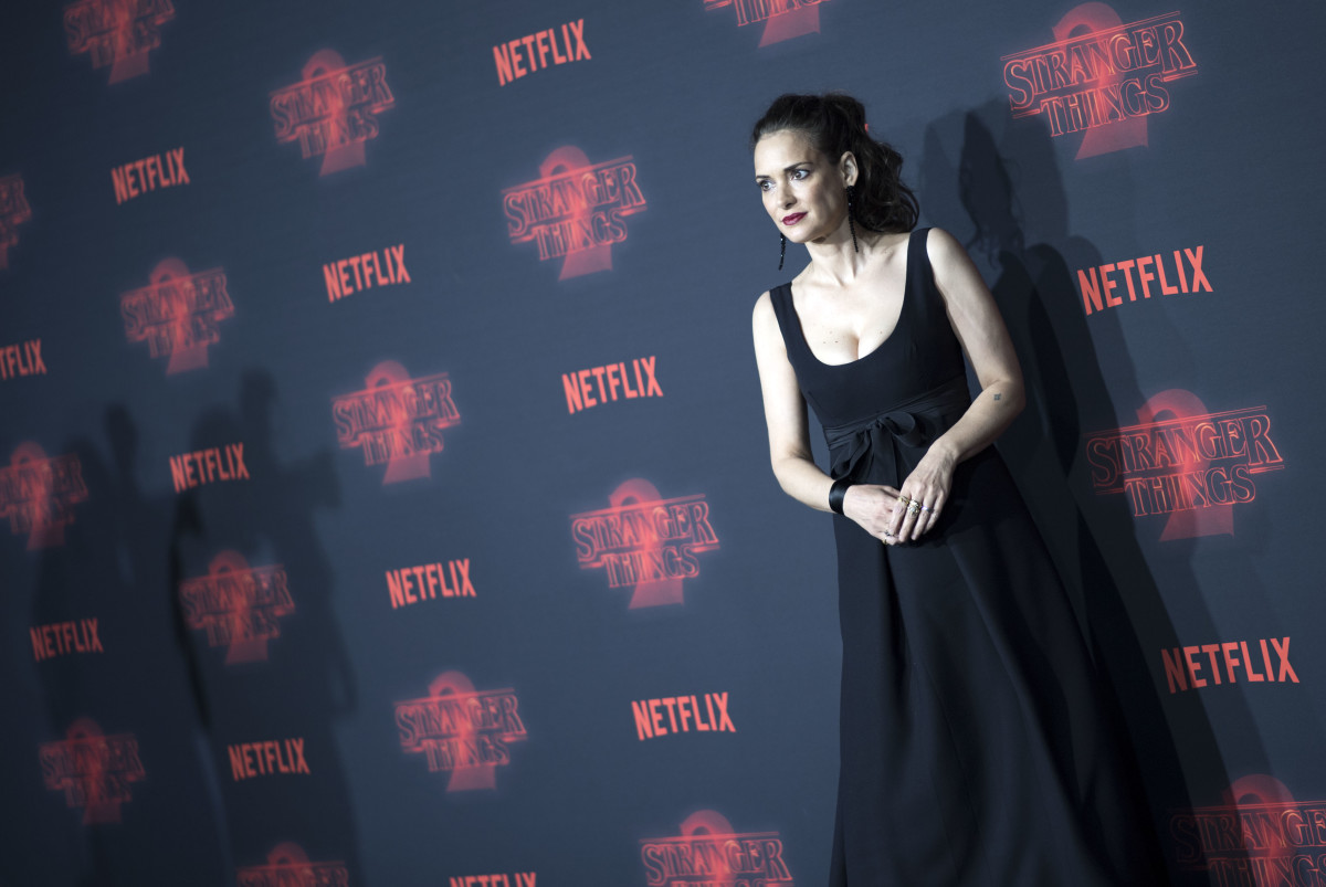 "Winona Ryder at Netflix's ""Stranger Things 2"" premiere in Oct. 2017, in Westwood, Calif. Photo: Valerie Macon/AFP/Getty Images"