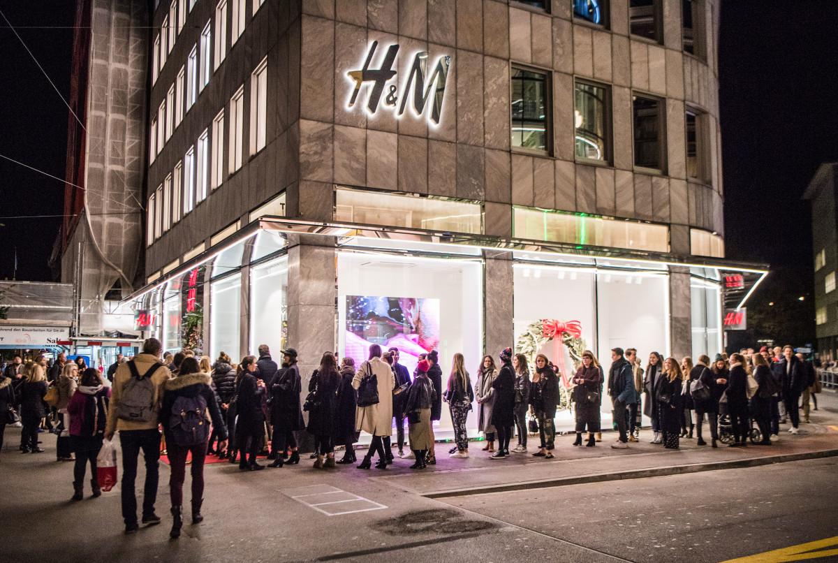 H&M storefront in Zurich, Switzerland. Photo: Remy Steiner/Getty Images