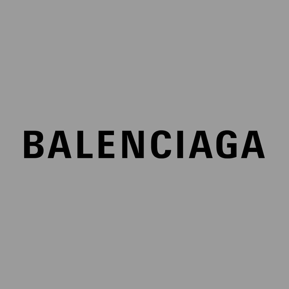 Balenciaga's new logo, created in-house and launched Sept. 29, 2017. Photo: @balenciaga/Instagram