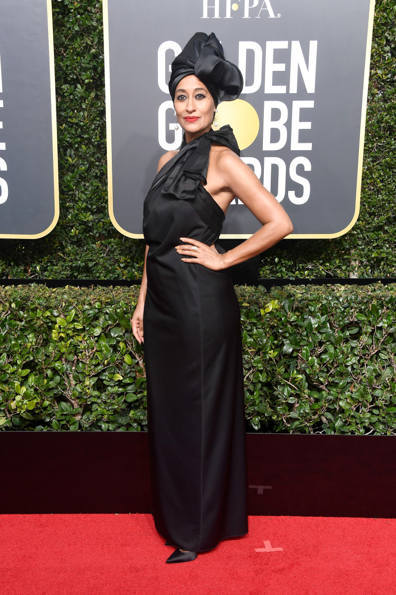 Tracee Ellis Ross in Marc Jacobs at The 75th Annual Golden Globe Awards. Photo: Frazer Harrison/Getty Images