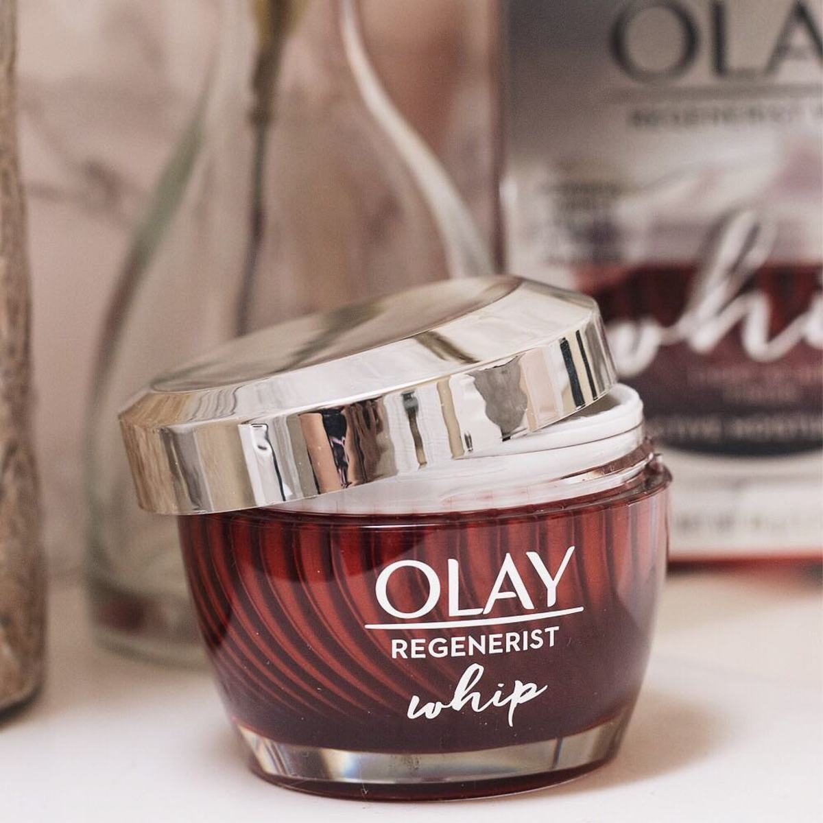 Olay's new Regnerist Whip Moisturizer. Photo: @angoodhue/Instagram