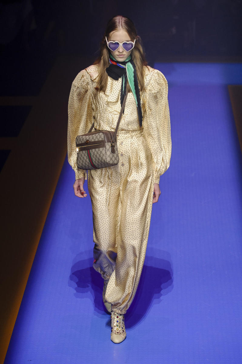 A look from Gucci's spring 2018 collection. Photo: Imaxtree