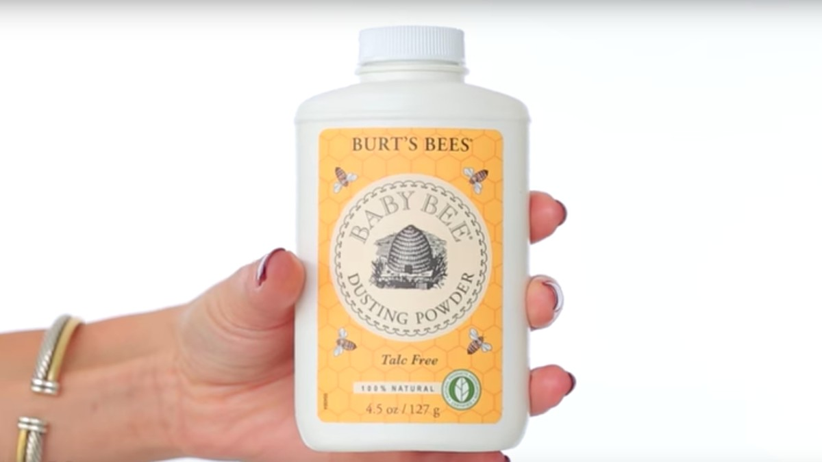 Burt's Bees' Talc-Free Baby Powder. Screengrab: Youtube