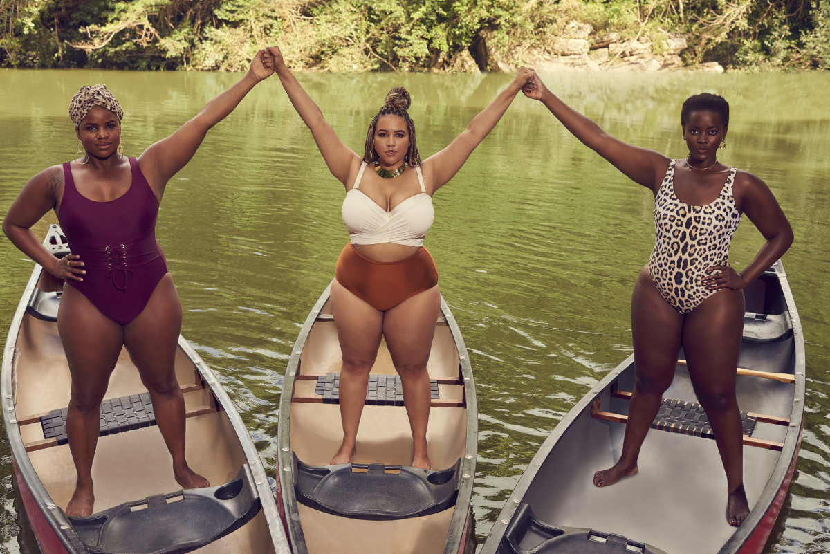 Erika Hart, Gabi Gregg and Philomena Kwao. Photo: Ryan Michael Kelly/Swimsuits For All