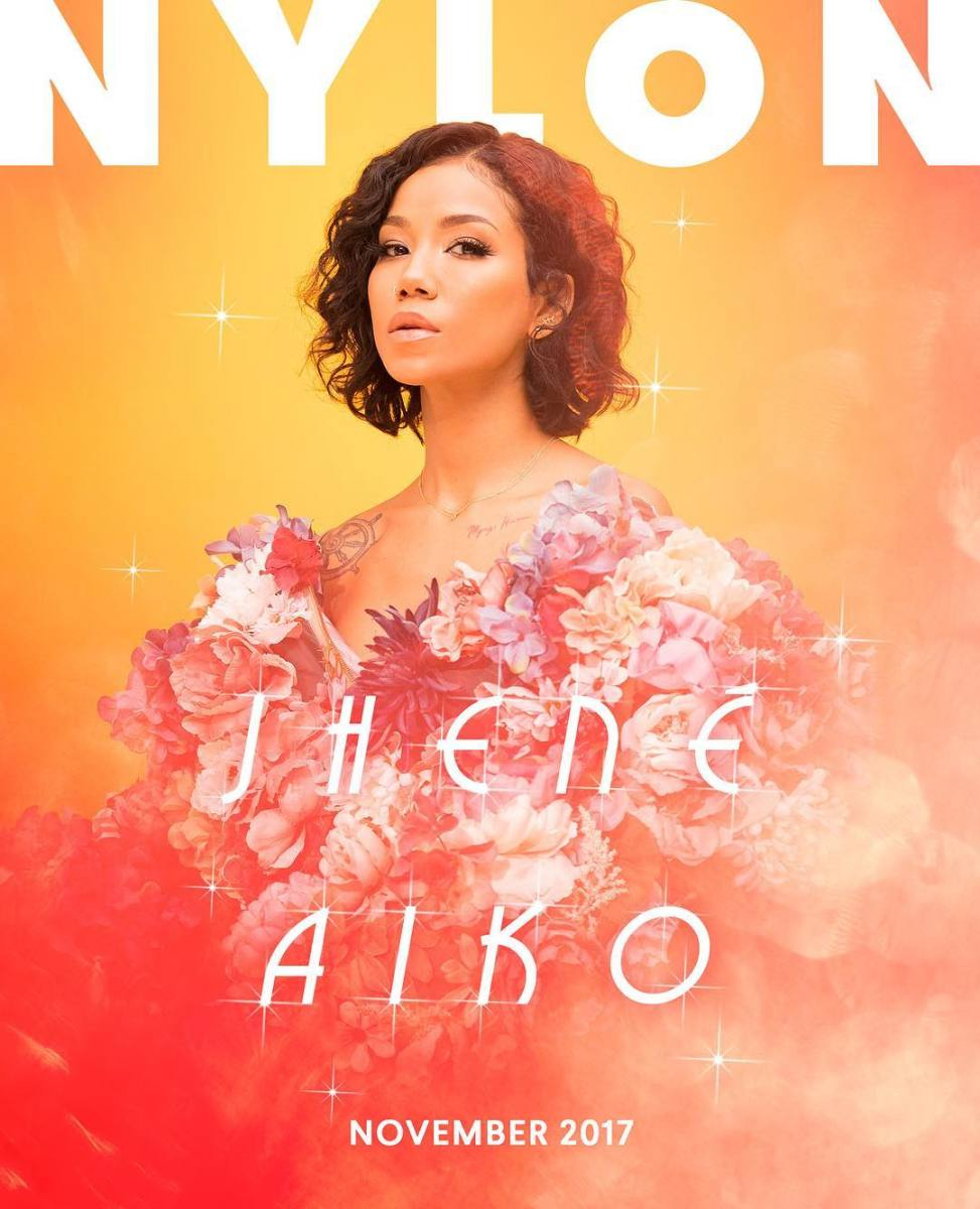 "Jhené Aiko on ""Nylon""'s November 2017 digital cover. Photo: Myles Pettengill/""Nylon"""