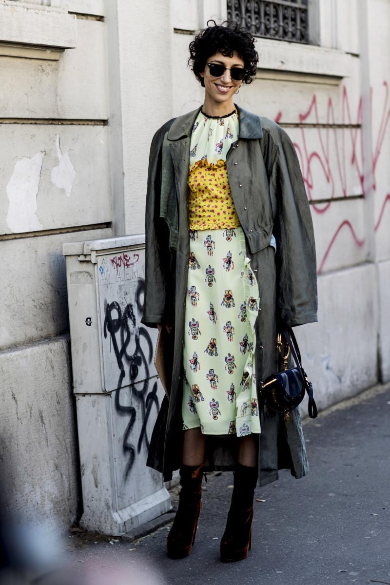 Yasmin Sewell at Milan Fashion Week. Photo: Imaxtree